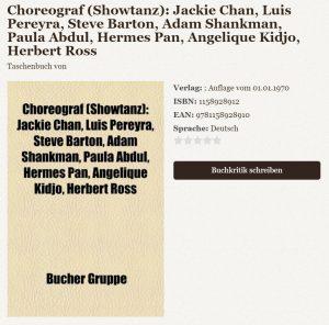 Un libro acerca de coreografos: Jackie Chan, Luis Pereyra